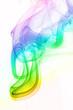 Färbiger Rauch vor weissem Hintergrund