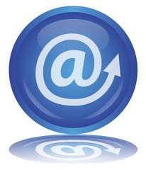 @ Button (At Sign - Arrobase - Internet - Web - e-mail - Vector)