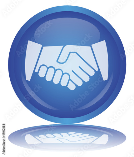 Handshake Button (Partnership - Contract - Hands - Vector)