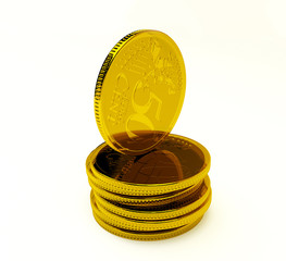 fity cent coin