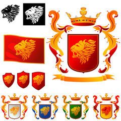 Coat of Arms 03 - Lions Head