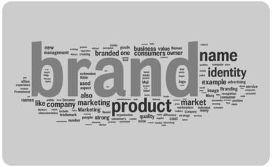 Brand word cloud illustration