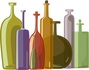 variety of bottles