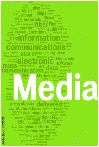 Media word cloud illustration