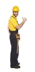 smiling handyman thumb up