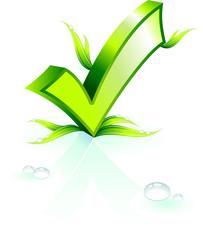 Environmental ckeck mark