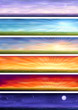 Day cycle - set of six steppe landscapes