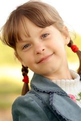 Girl with plaits
