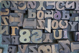 Wooden Letters and Numbers