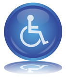 "Bouton ""Handicap - Disabled Sign"" (Symbole - Rond - Vecteur)"