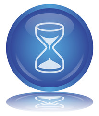 "Bouton ""Sablier"" - ""Hourglass"" Web Button (Time - Vector)"