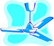 Illustration of blue Ceiling fan