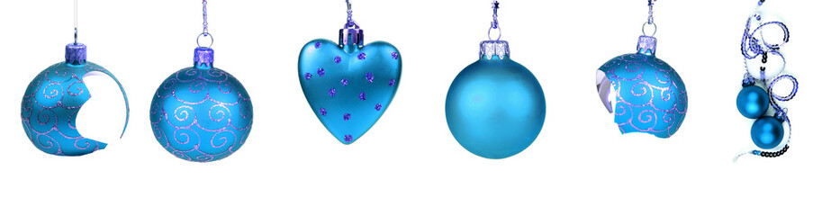 Collection of blue Christmas decoration