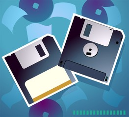 Illustration of two floppies