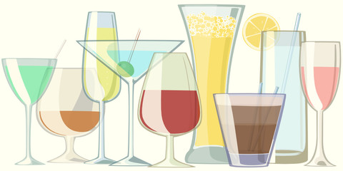 glasses with drinks