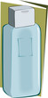 deodorant bottle isolated in green background