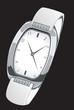 Illustration of a stylish silver wrist watch