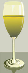 Illustration of half filled goblet with juice