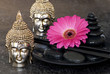 Gerbera pink und Buddha