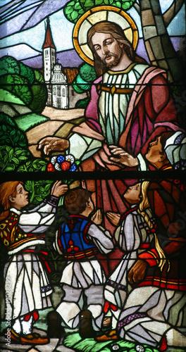 Naklejka Jesus Loves the Children