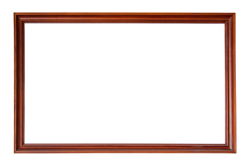 wooden picture-frame isolated on white background