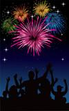 Fototapety happy new year fireworks