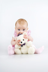 Child with teddy - bear.
