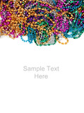 Fototapety Mardi gras beads on white with copy space