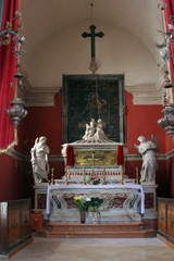 Chapel of St. Vincenca in the church of All Saints in Blato