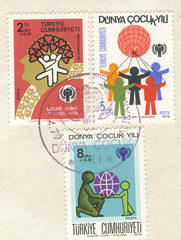 year of the child special postmark and stamps