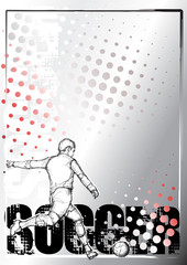 soccer sketching poster background