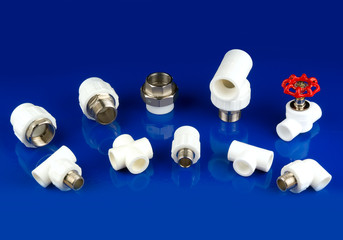 white plastic fittings