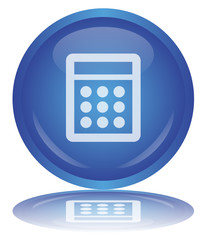 CALCULATOR Button - Bouton CALCULATRICE (vector - reflection)