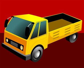 Illustration of a pick up van