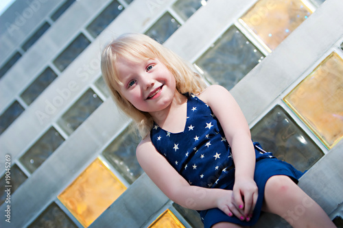 Young Girl on Step