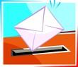 Illustration of a  envelope for mail