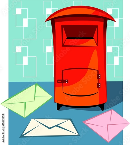 Illustration of a  envelopes for mail
