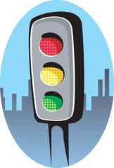 Illustration of a traffic signal