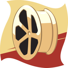 Illustration of a metallic drum using in vehicles