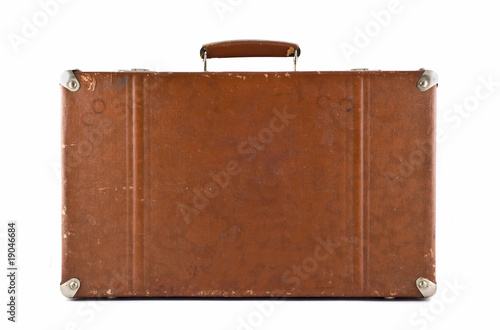 poster of Traveling - old-fashioned suitcase isolated