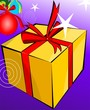 Illustration of a gift box with decoration