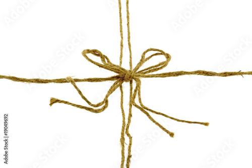 noeud rosette ficelle emballage cadeau fond blanc photo libre de droits sur la banque d 39 images. Black Bedroom Furniture Sets. Home Design Ideas