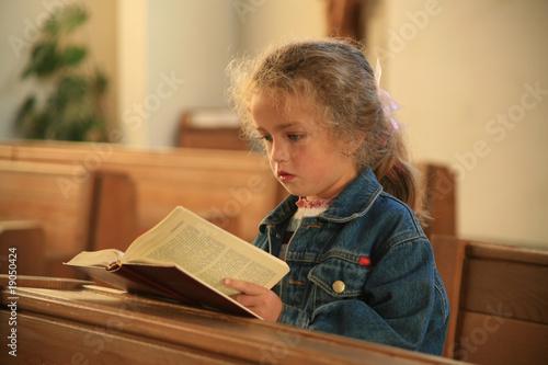 Leinwanddruck Bild BIBELSTUNDE