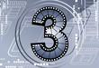 Illustration of Film number with back ground