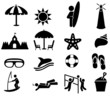 Fun on the beach icons