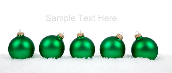 Christmas ornaments/baubles on white