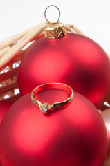 ring among the Christmas decorations