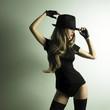 Leinwanddruck Bild - Young dancing woman