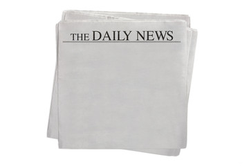 blank newspaper The Daily News (clipping path included)