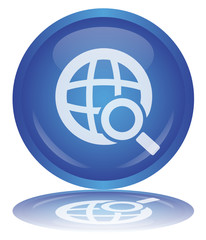 SEARCH Button - Bouton RECHERCHE (Internet Web Engine - Vector)